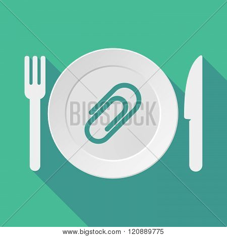Long Shadow Tableware Illustration With A Clip