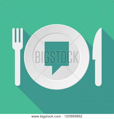 Long Shadow Tableware Illustration With A Tooltip