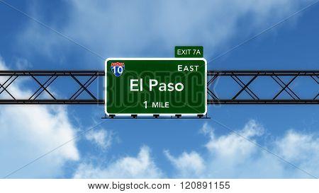 El Paso Usa Interstate Highway Sign