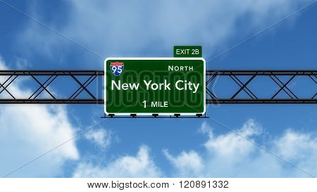 New York City Usa Interstate Highway Sign