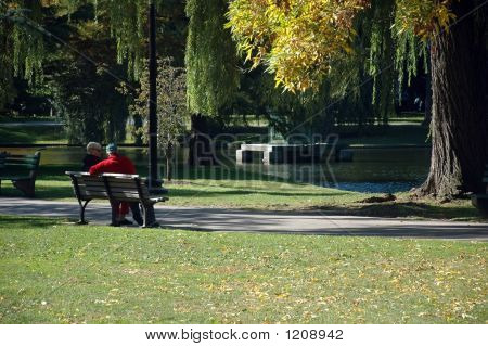 Old Couple, Public Garden, Boston Common, Boston, Ma