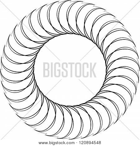 Abstract Spiral Element, Motif Isolated On White Background