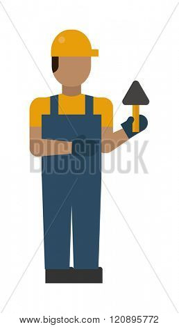 Construction worker vector illustration. Construction worker isolated on white background. Construction worker vector icon illustration. Construction worker isolated vector silhouette