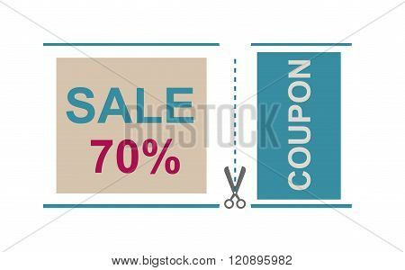 Sale Coupon certificate template Vector illustration.