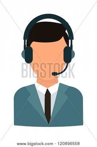 Face headphone vector illustration. Face headphone isolated on white background. Face headphone vector icon illustration. Face headphone isolated vector. Face headphone silhouette