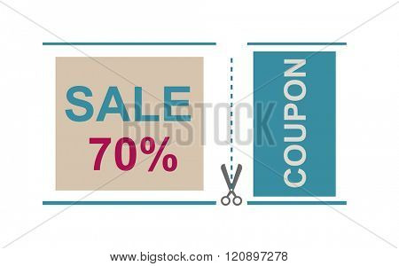 Sale Coupon vector. Gift voucher certificate sale coupon template, can be use for business shopping card, customer sale and promotion. Sale Coupon vector illustration.