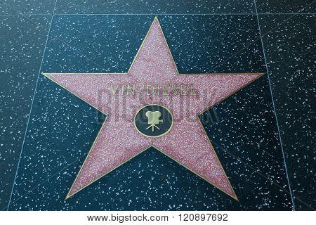 Vin Diesel Hollywood Star