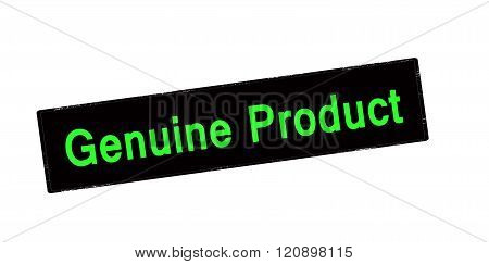 Rubber stamp with text genuine product inside vector illustration