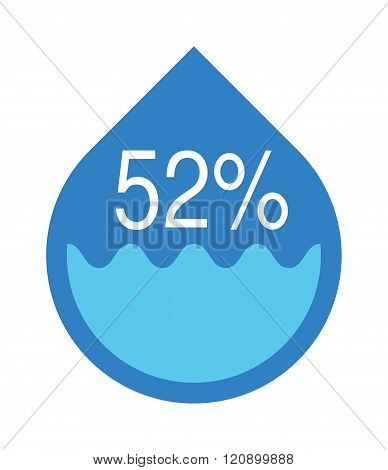 Water infographics. Information Graphics. Vector illustration Abstract Creative concept