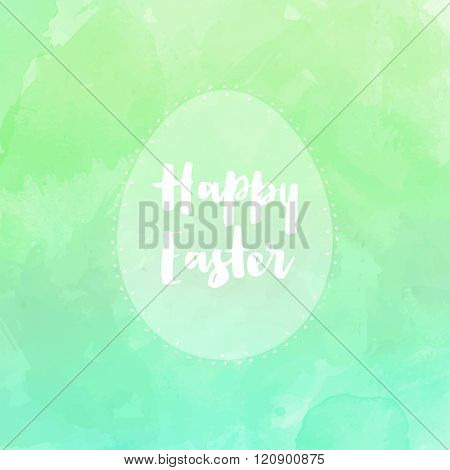 Happy Easter background with watercolor design