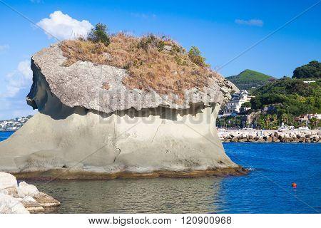 Il Fungo. The Famous Rock In Mushroom Shape