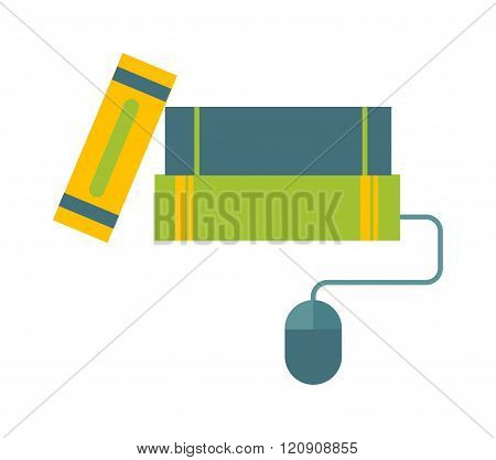 E-books concept vector illustration