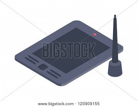 Graphics tablet vector illustration