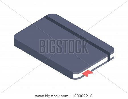 Notebook paper vector illustration.