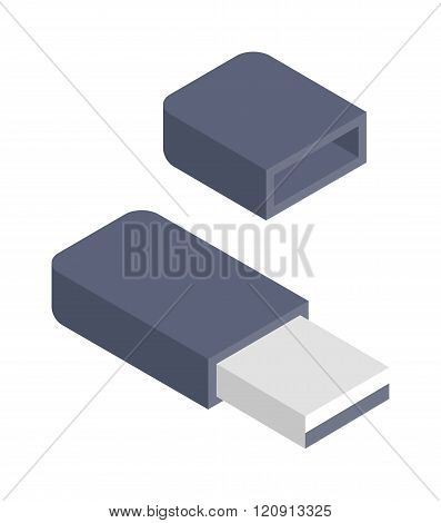 Flash drive vector illustration