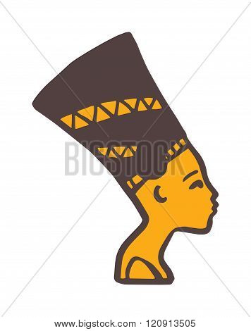 Pharaoh head vector illustration