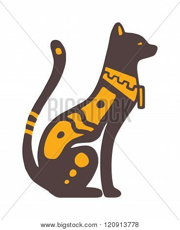 Egypt cat vector illustration