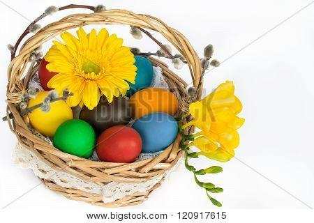 easter eggs in basket 3