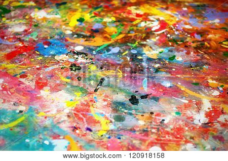 Colorful background of multicolored paint. Background color colorful spots