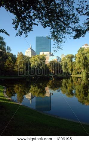 New John Hancock Tower, Public Garden, Boston Common, Boston, Ma