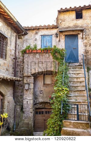 Stairs In Old Village