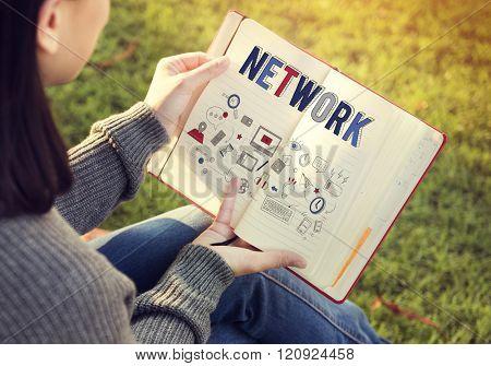 Network Link Internet Computer System Communication Concept