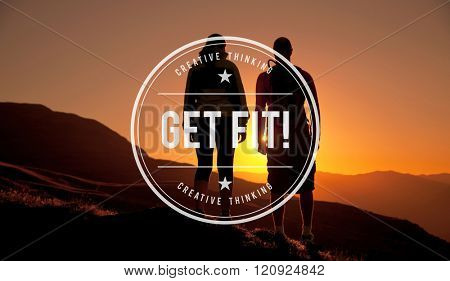 Get Fit! Healthy Activity Cardio Exercise Concept