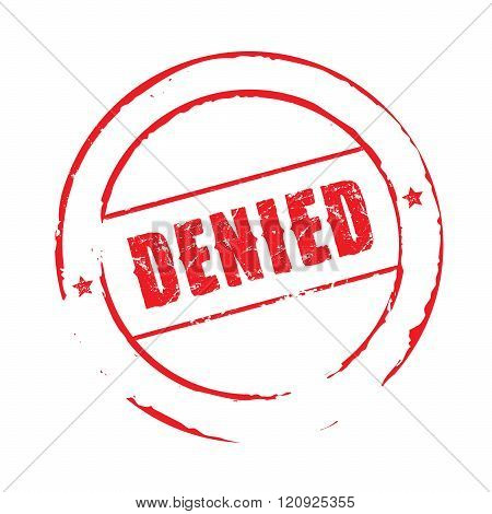 Red Vector Grunge Stamp Denied