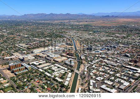 Above Downtown Scottsdale, Arizona
