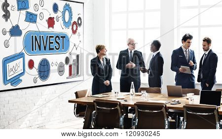 Invest Investment Business Economy Finance Concept