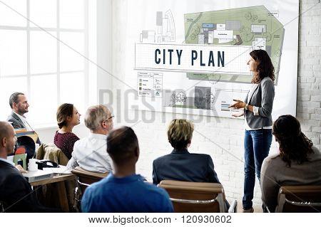 City Plan Municipality Community Town Management Concept