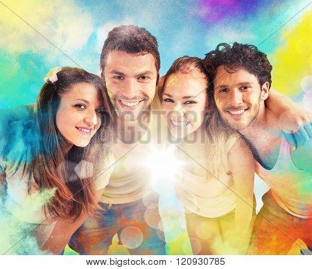 Colourful friends