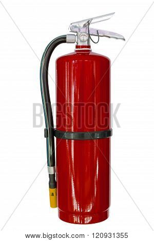 Red Chemical Fire Extinguishers Isolated On White Background