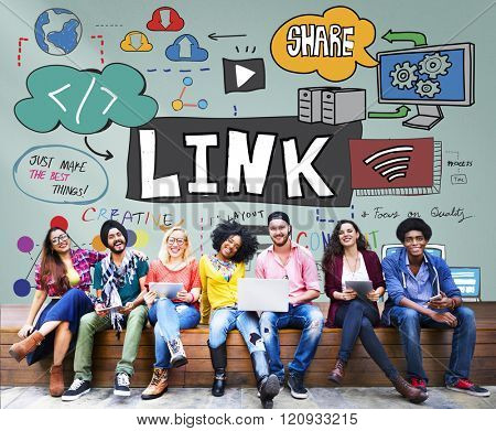 Link Network Hyperlink Internet Backlinks Online Concept