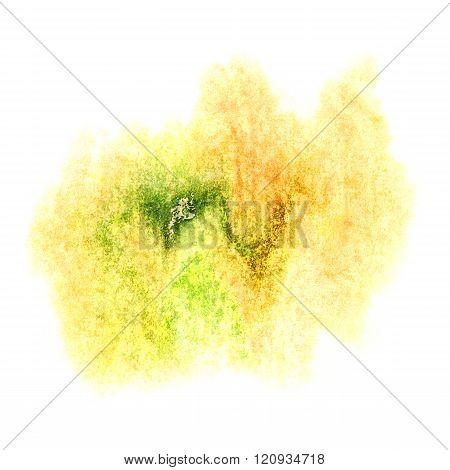paint splash color ink watercolor isolated yellow green stroke splatter watercolour aquarel brush