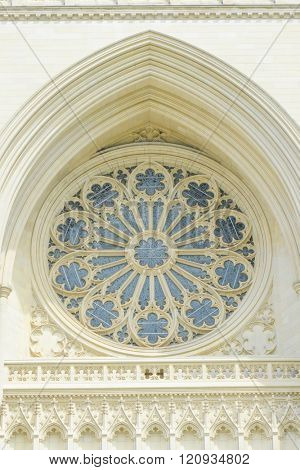 National Cathedral building details in Washington DC USA