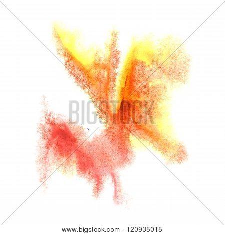paint splash color ink watercolor yellow burgundy isolated stroke splatter watercolour aquarel brush