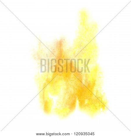 paint splash color ink yellow watercolor isolated stroke splatter watercolour aquarel brush