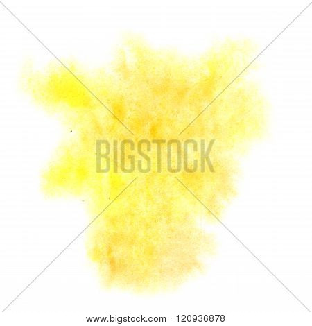 paint splash yellow color ink watercolor isolated stroke splatter watercolour aquarel brush