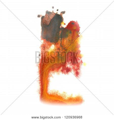 paint splashblack Brown color ink watercolor isolated stroke splatter watercolour aquarel brush