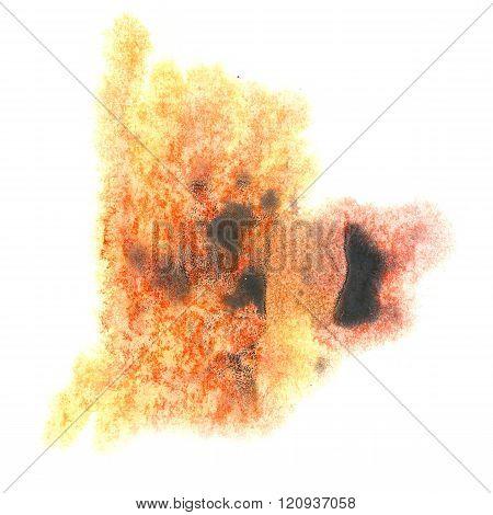 paint yellow black orange splash color ink watercolor isolated stroke splatter watercolour aquarel brush