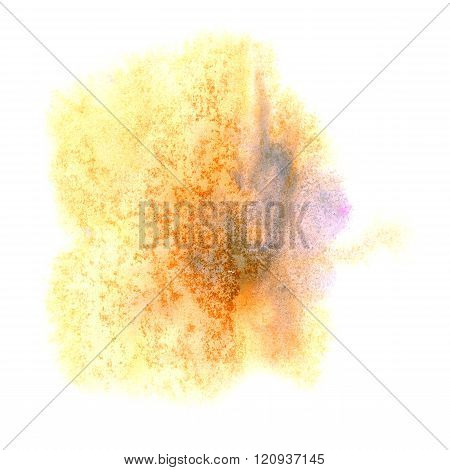 paint yellow blue splash color ink watercolor isolated stroke splatter watercolour aquarel brush