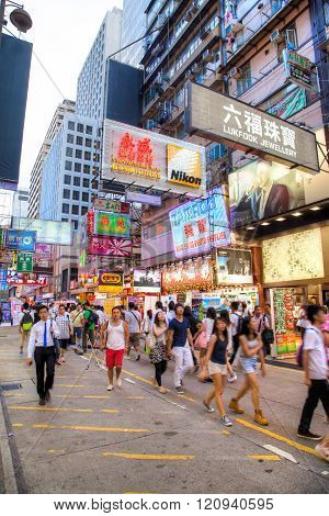 Fa Yuen Street In Mong Kok, Kowloon