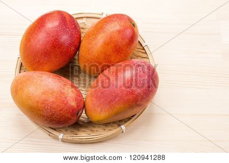 Four mango fruit