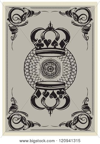 Reverse Side Of A Playing Card