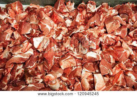 Close Up On Pork Chop Bits
