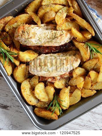 Chicken Loins Stuffed With Bacon And Gorgonzola