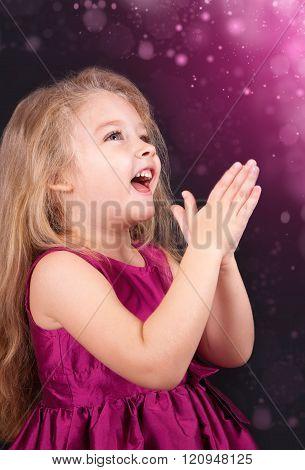 Portrait Of A Joyful Little Girl