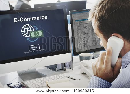 E-commerce Market Transaction Online Concept