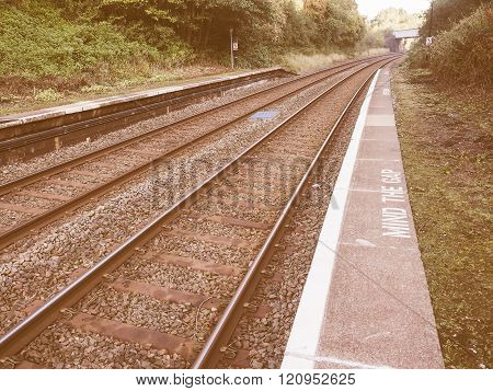 Railway Track Vintage